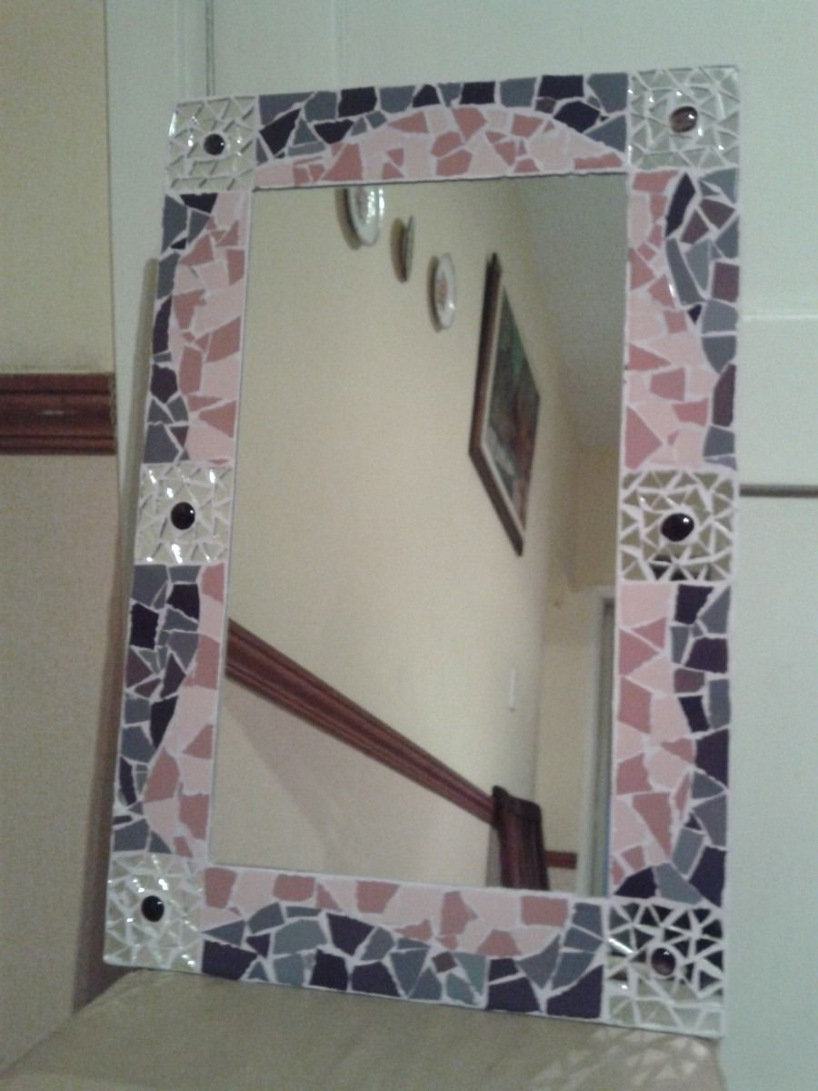 Espejo corazon mosaiquismo y trencadis romper para - Romper un espejo ...