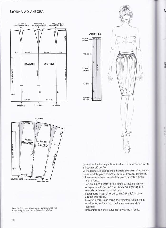 Pin de Veronica en Patrones Faldas | Pinterest | Patron falda, Falda ...