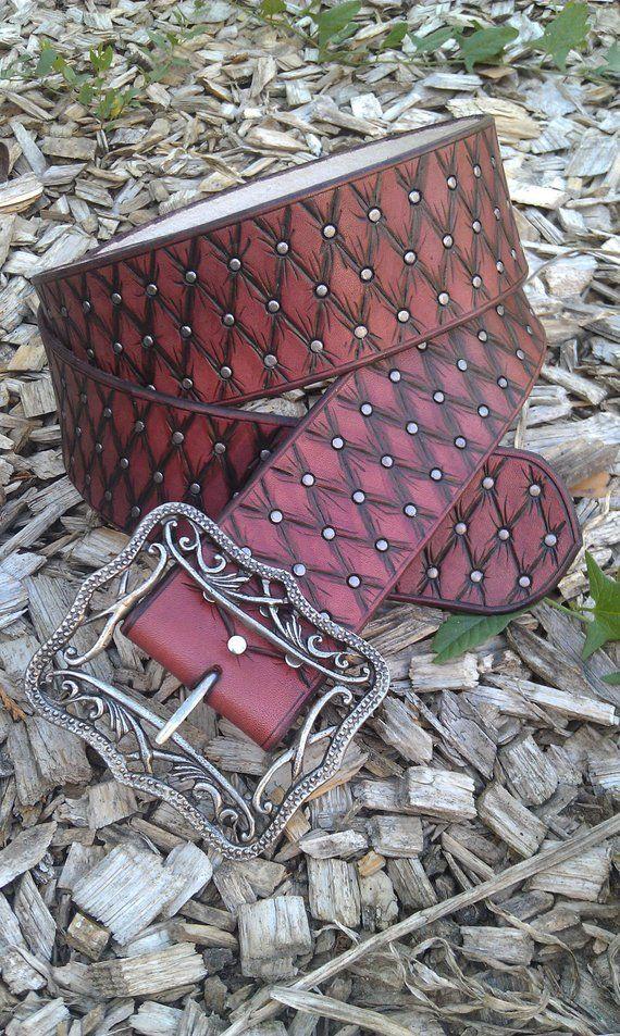 pirate leather belt, size M, handmade, high quality   balmora ... aa973b4d39e