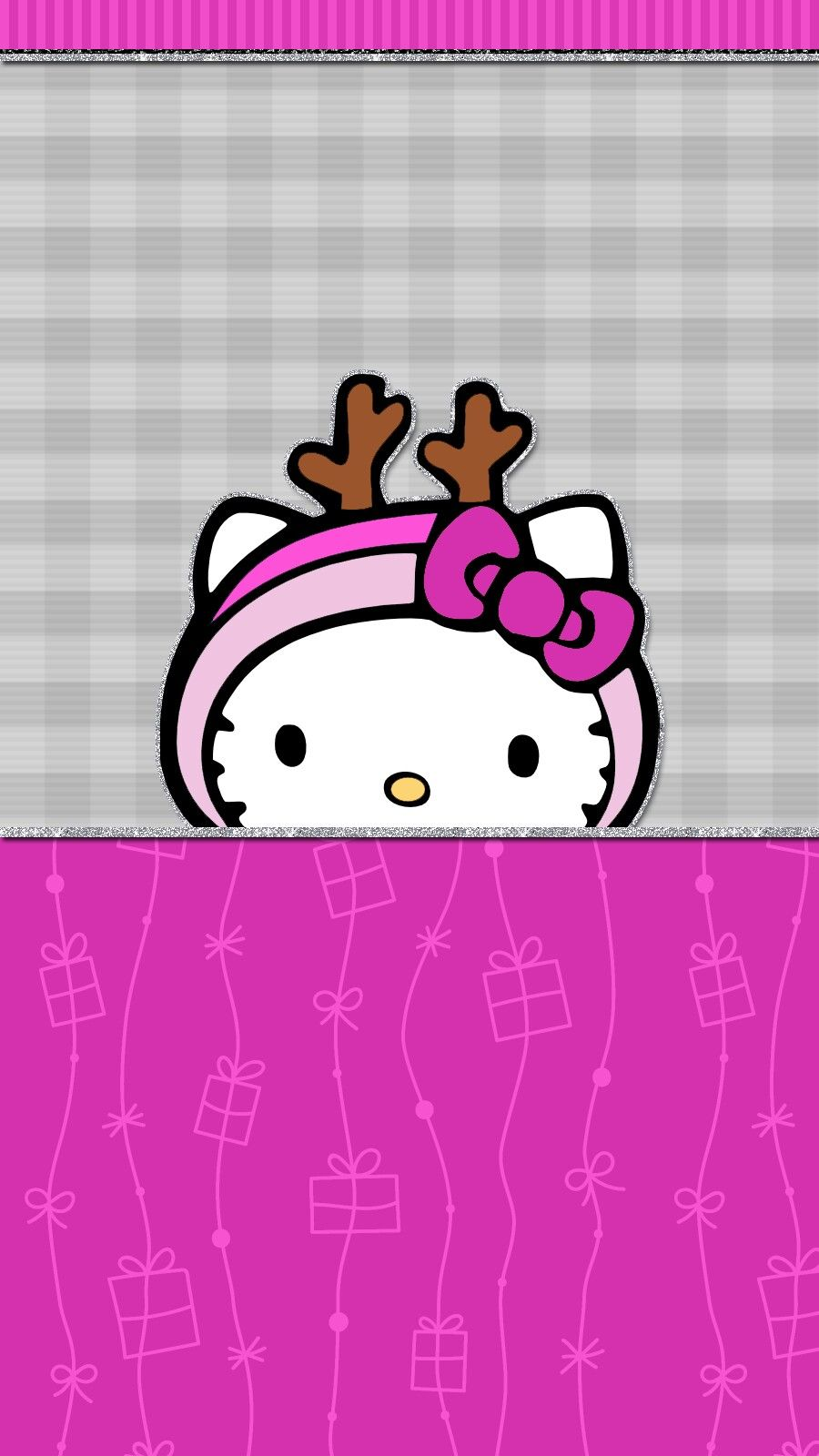 Pink Christmas Wallpaper Iphone Android Hello Kitty Cute
