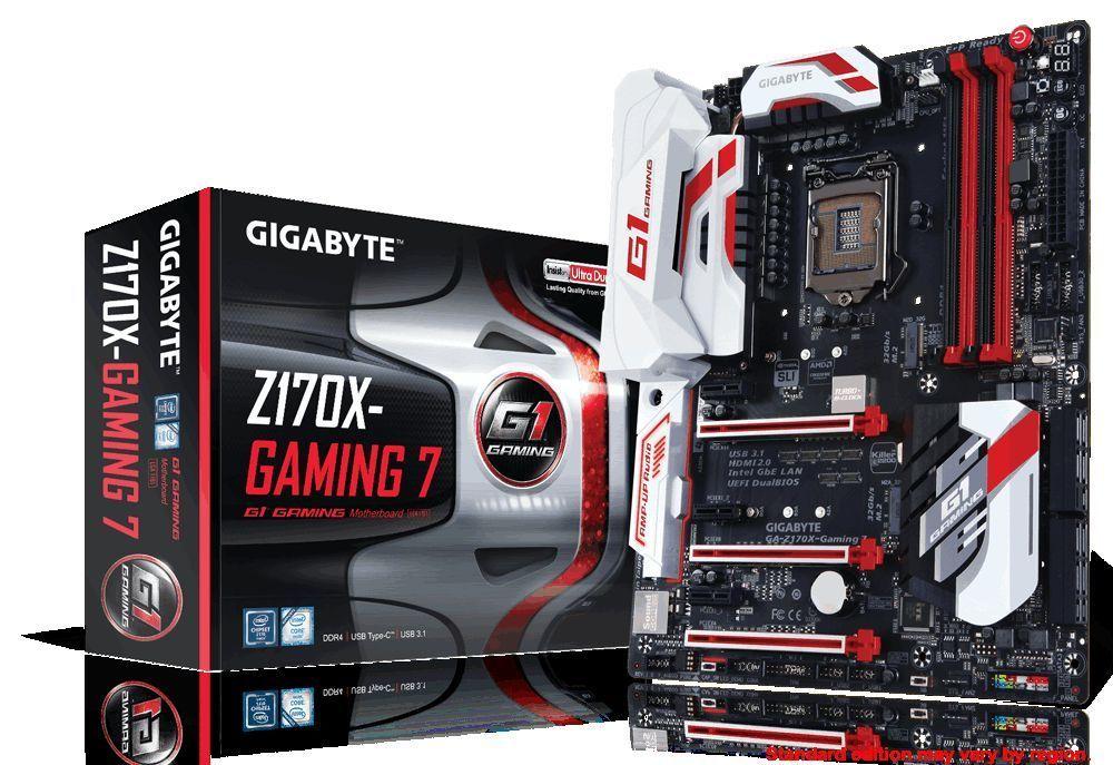 Gigabyte GA-Z170X-Gaming 7 DDR4 Motherboard CPU i3 i5 i7 LGA1151 HDMI 4K USB-C