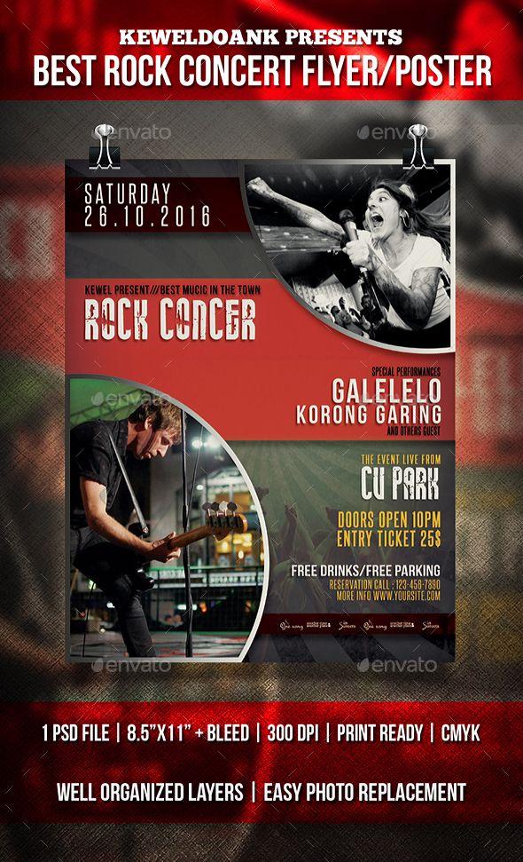 Rock Concert Flyer  Poster  Concert Flyer And Rock Concert