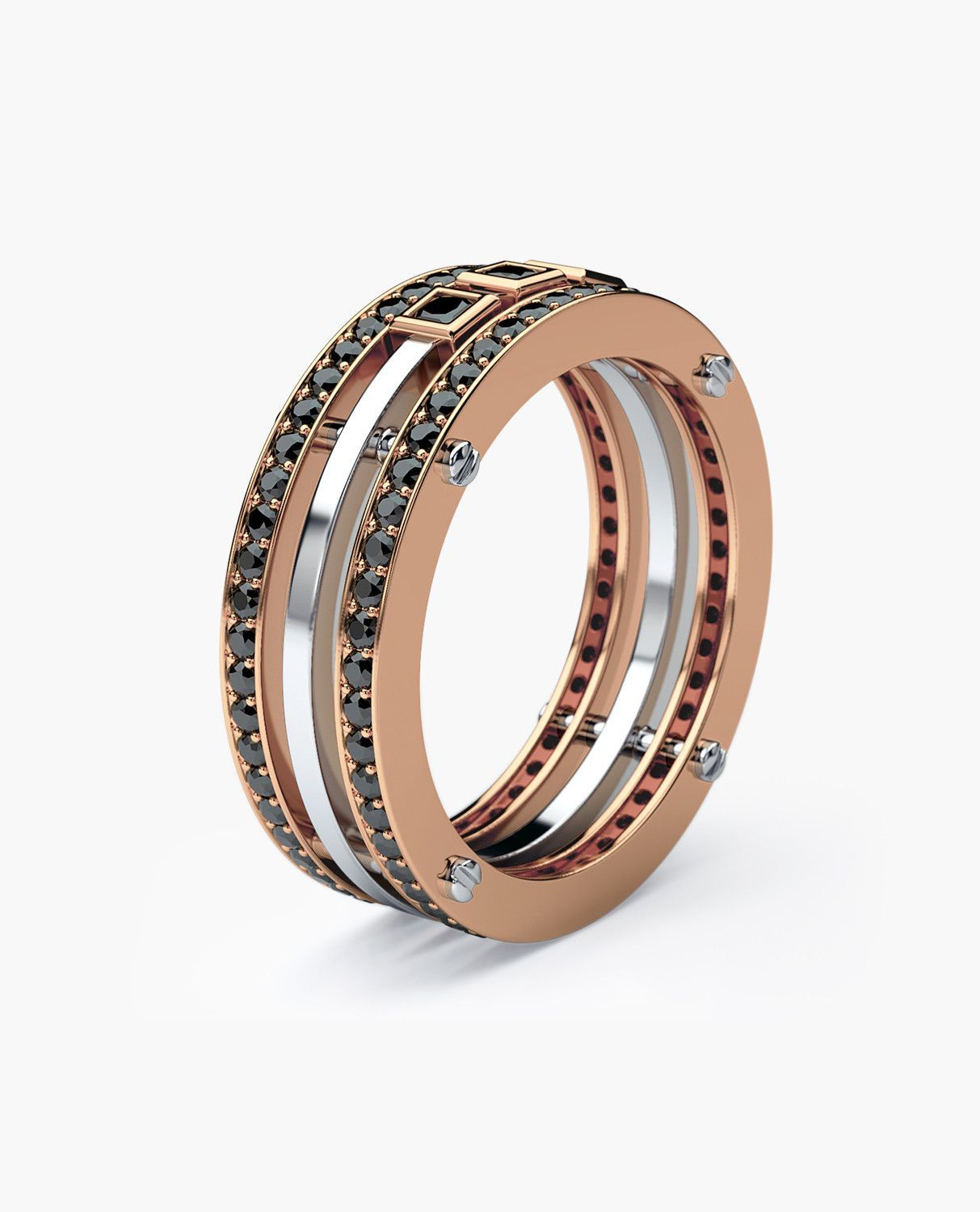 Three Bold, Stylish Bands Connected By Our Signature