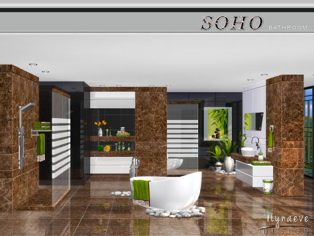 Sims 4 CC\'s - The Best: Soho Bathroom by NynaeveDesign ...