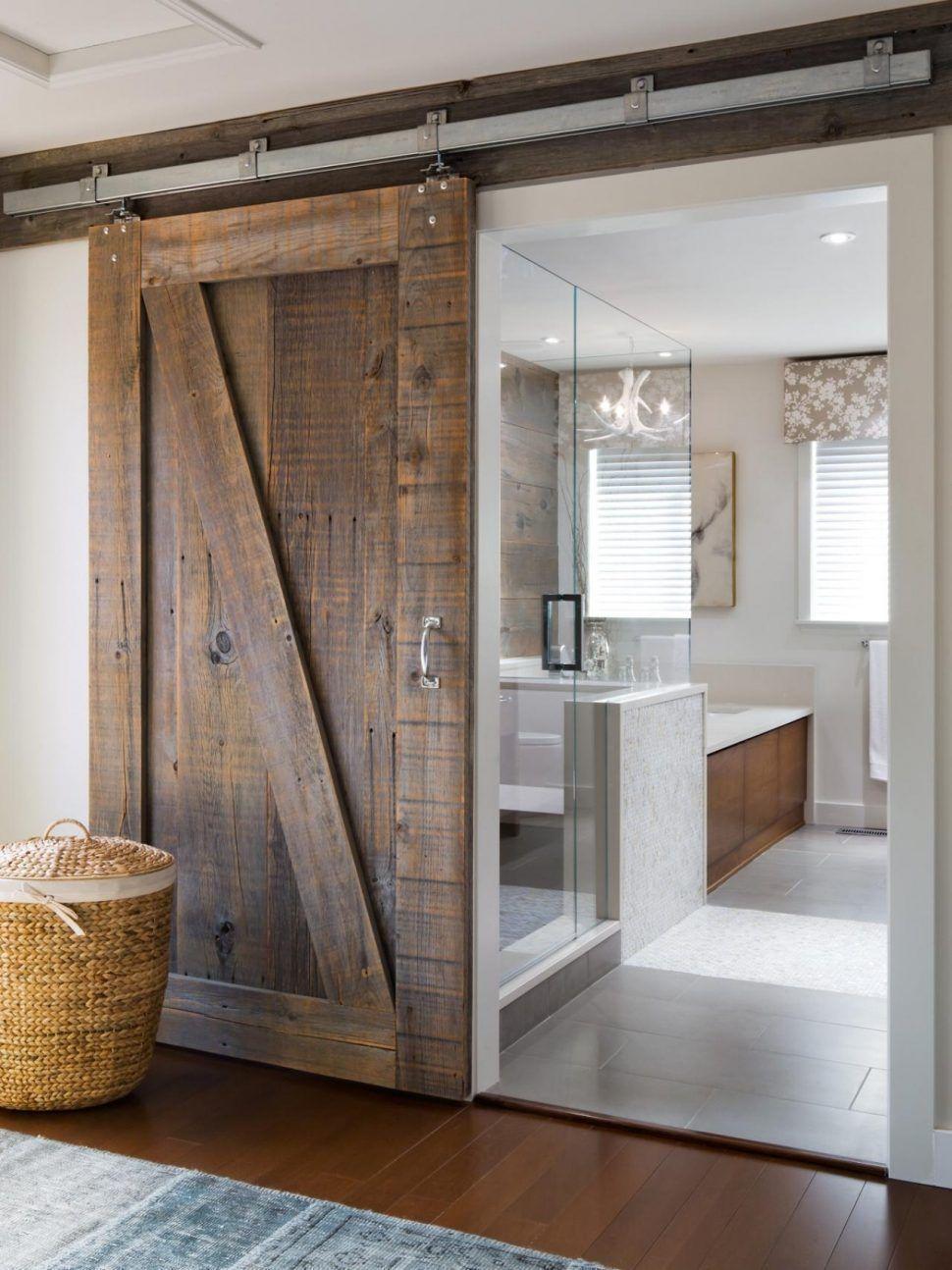 Bathrooms design elegant how to make interior sliding barn - How to make an interior sliding barn door ...