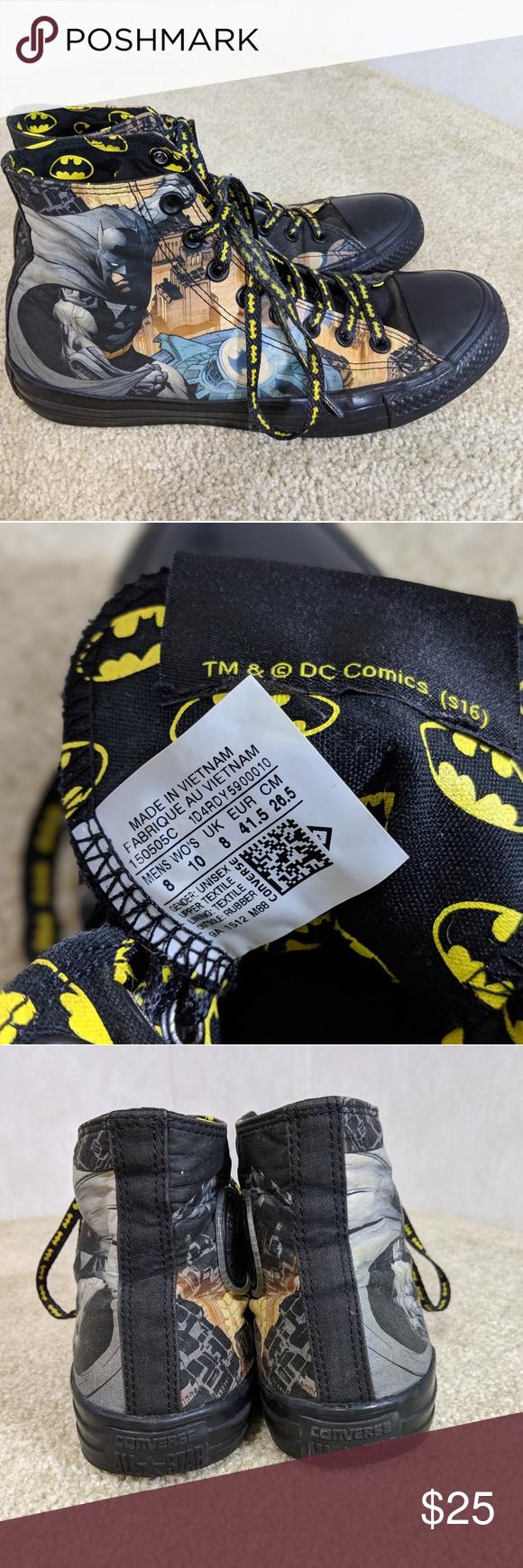 4e153f54c0bc Converse Batman High Tops DC Comics
