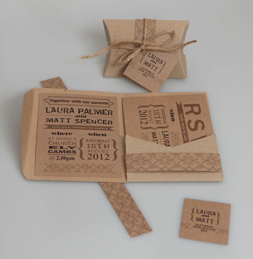 Brown Kraft A6 Pocketfold Wallets pack of 50   wedding   Pinterest ...