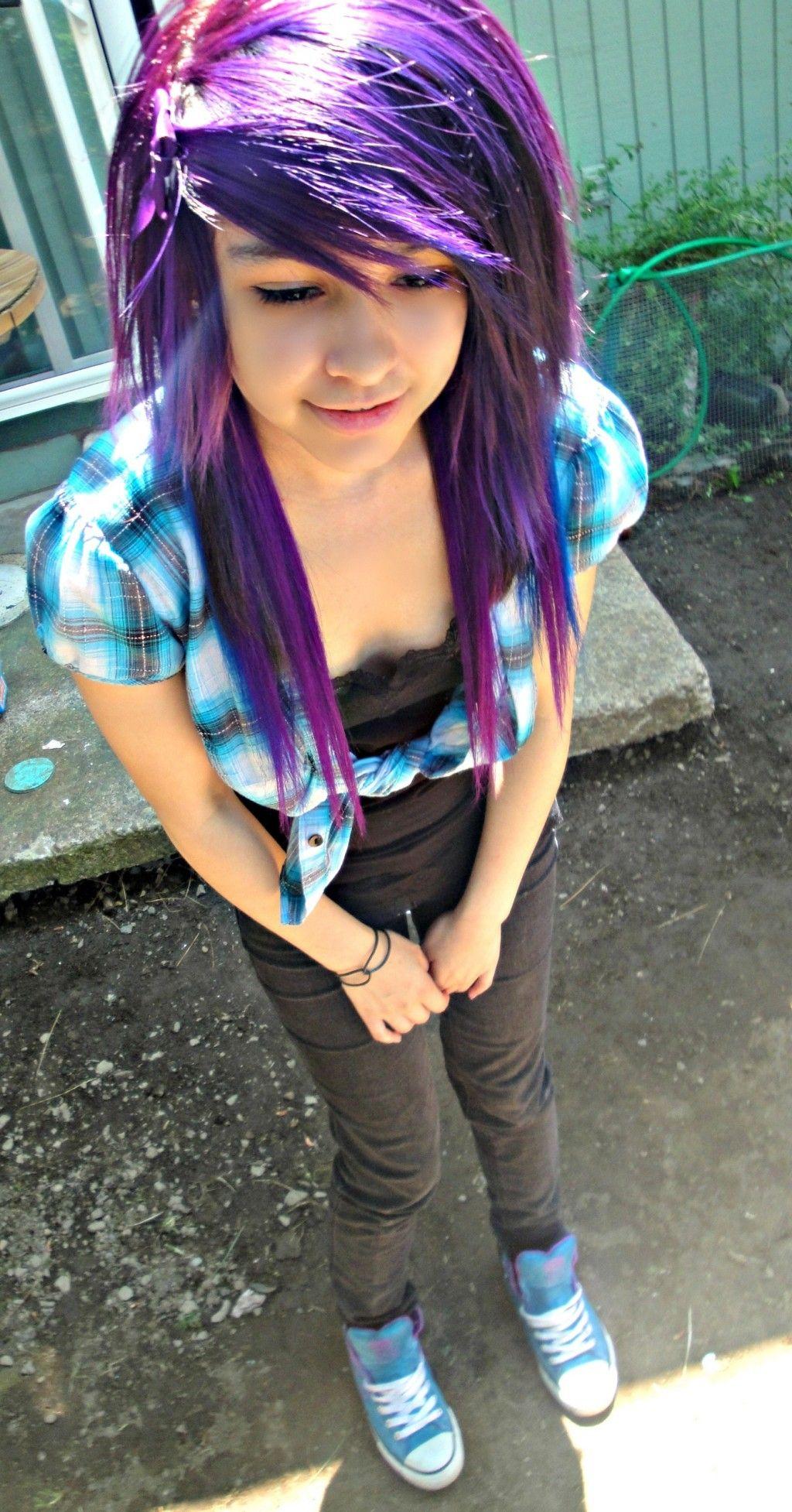 Cute emo hair for curly hair hairstyles for thin hair scene hair