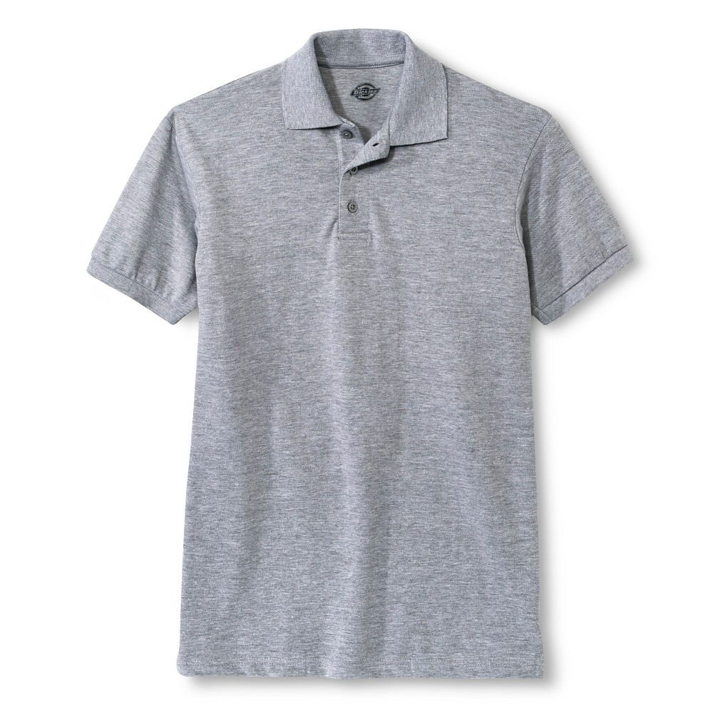 2ed82b90dc7 Dickies Young Men s Pique Polo Heather Grey Xxl Polo Shirt White