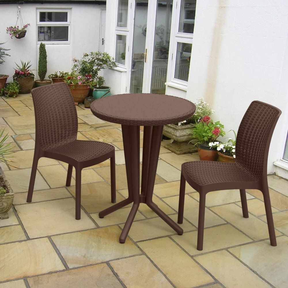 Bistro Set 3Piece Indoor/Outdoor Furniture Compact Design ...