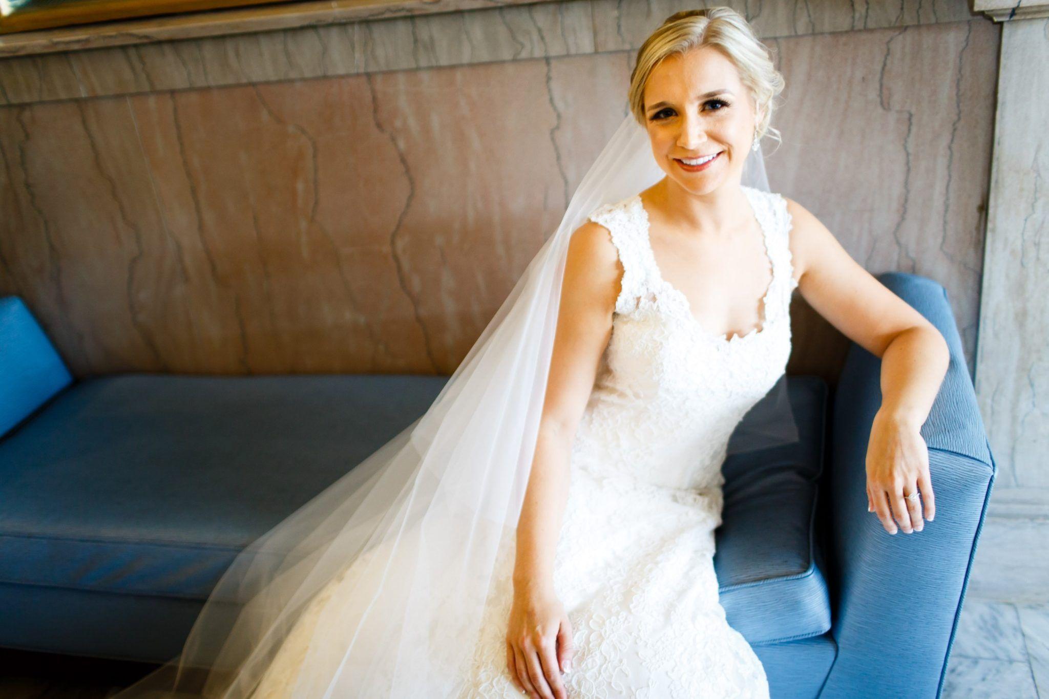 ALLIE + BOB\'S COLUMBUS WEDDING. Dress + veil: Astrid & Mercedes ...