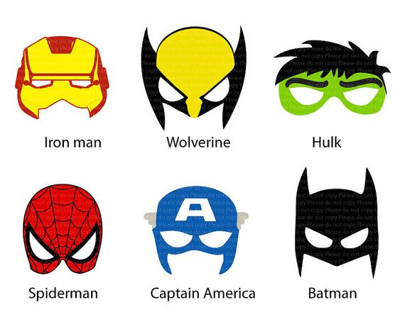 9 Best Images Of Printable Superhero Mask Cutouts - Super Hero