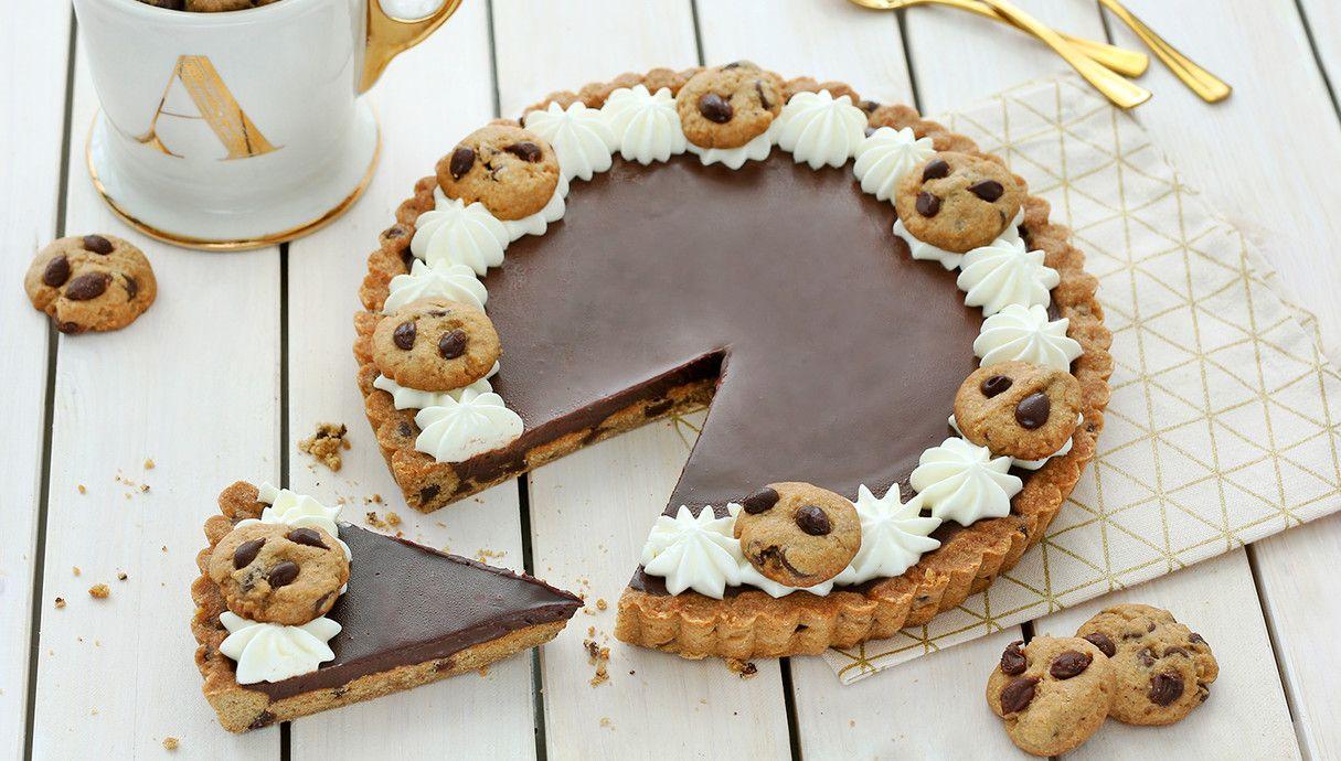 טארט מבצק שוקולד צ'יפס (צילום: ענבל לביא ,אוכל טוב)