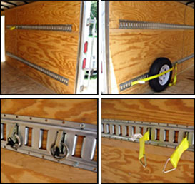 8 End Caps 8 Rope Tie-Offs Cargo Securement Trailer Accessories 8 Powder-Coated 5 Horizontal E Track Rails E-Track Tie-Down KIT 8 O Rings