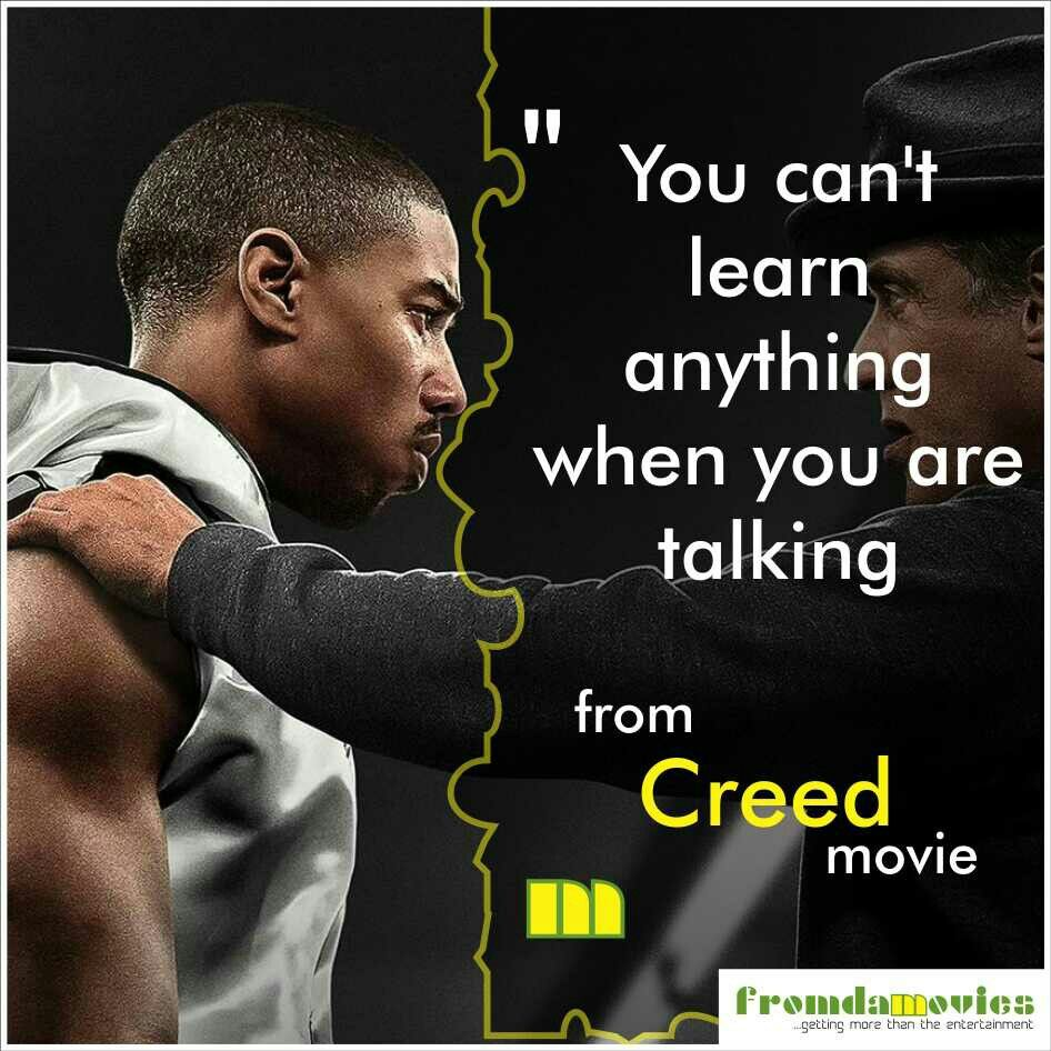Creed Quotes Wise Words From 'creed' Moviefromdamovies Motivationalquotes