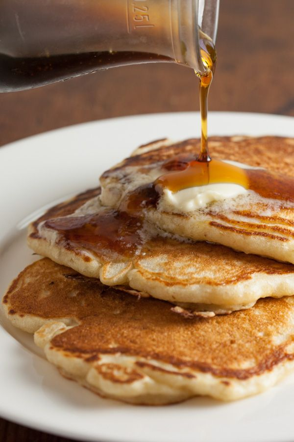 These Perfect Fluffy Buttermilk Sourdough Pancakes Can Be Made Overnight Using Leftover Starter Or Discard So Sourdough Pancakes Sourdough Pancakes Recipe Food
