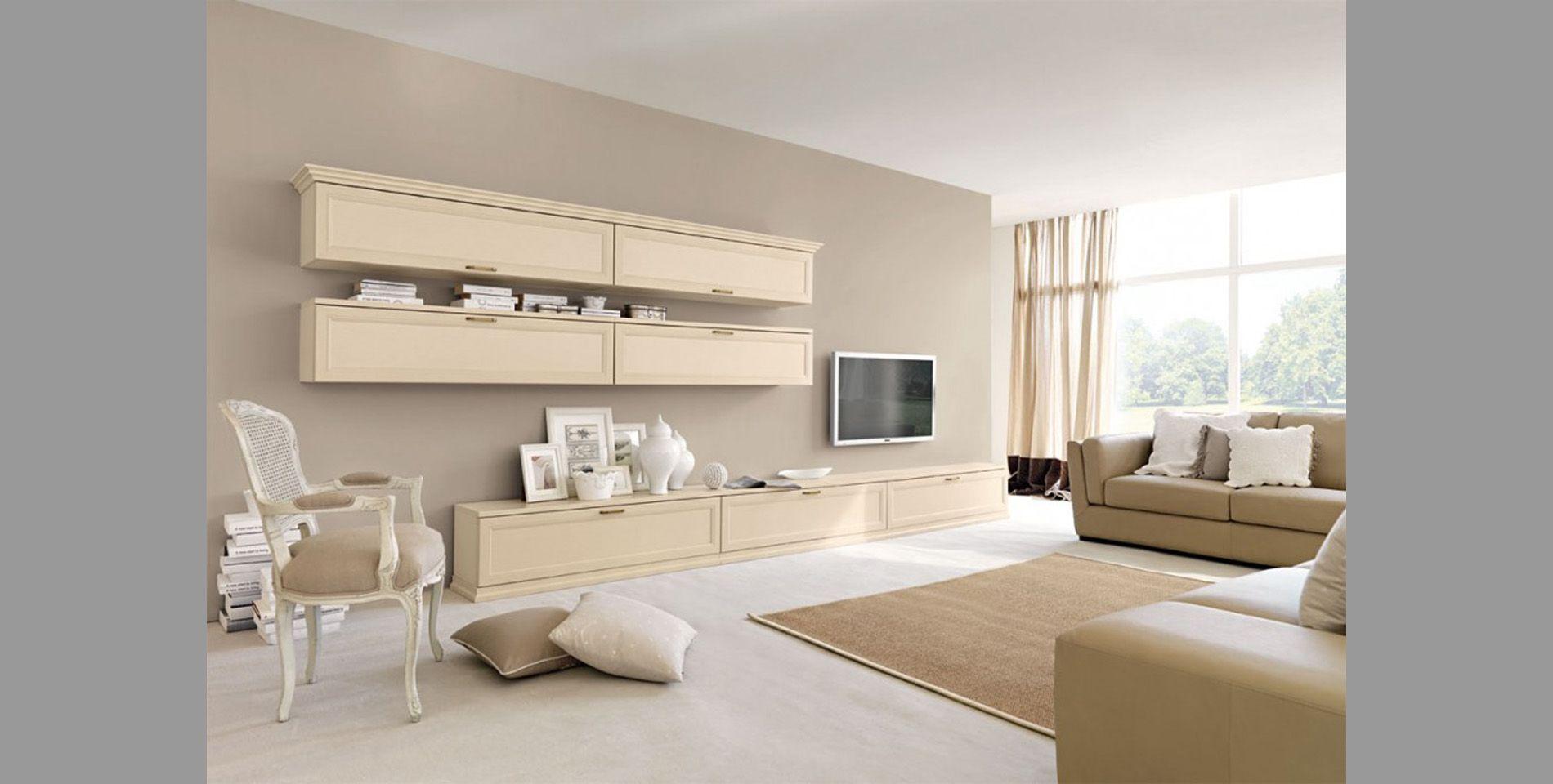 Pareti del soggiorno: come abbinare i colori ai mobili ...