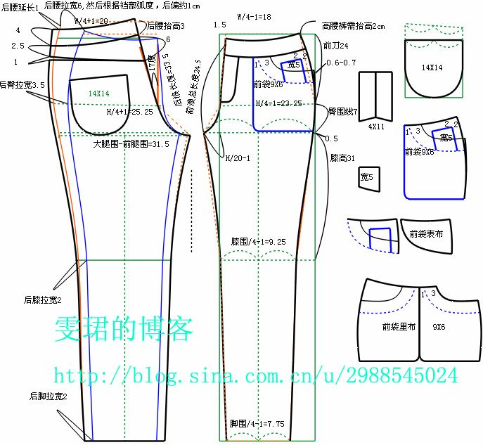 women\'s jeans | coser | Pinterest | Patrones, Costura y Molde
