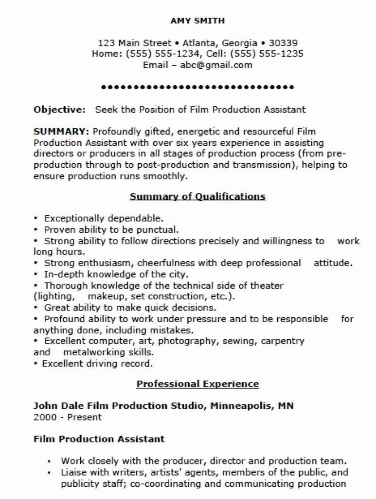 Production Assistant Job Description Resume Lovely 10 Pet Sitter Job Description For Resume Resume Examples Assistant Jobs Resume