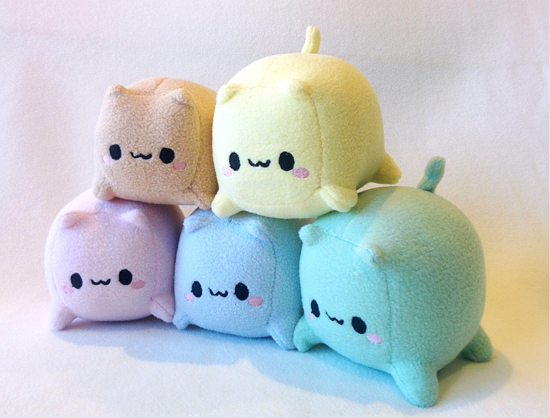 Cat Loaf Cube Plush Handmade Handmade toys, Handmade