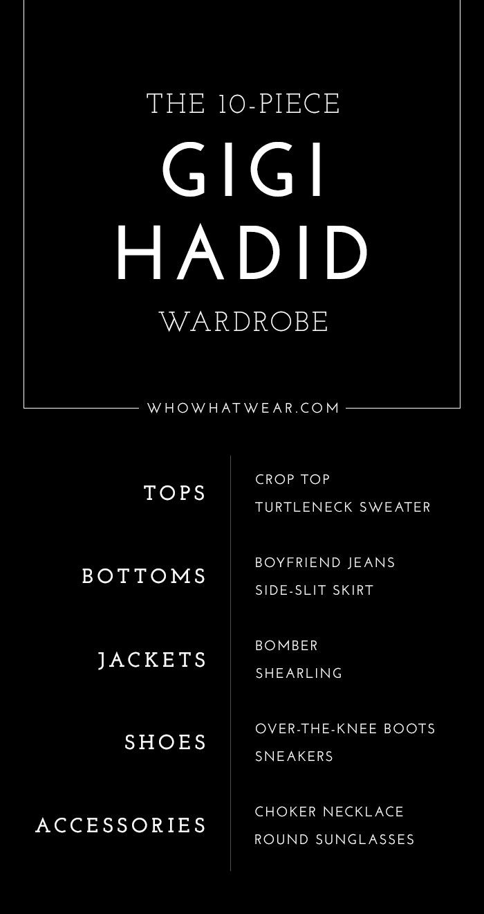 9b164bf0870229 How to dress like Gigi Hadid. How to dress like Gigi Hadid 10 Piece Wardrobe  ...
