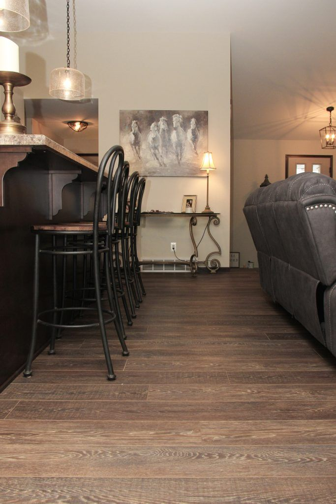 Flooring Luxury Vinyl Plank, Coretec Plus HD, Espresso Contempo Oak