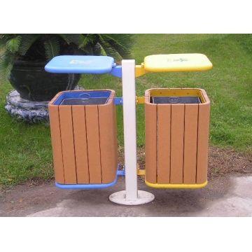 Recycling Plastic Wood Trash Can Dustbin Outdoor Bin Park Furniture Cesto De Basura Basureros Reciclaje Mobiliario Urbano