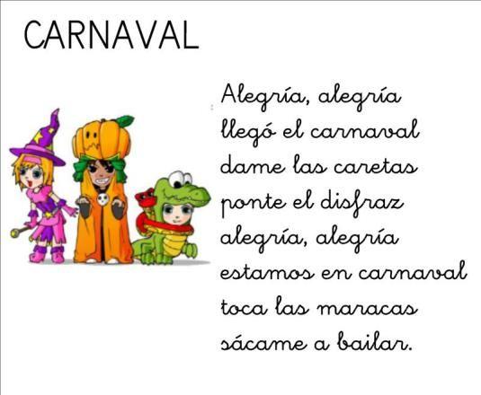 Poema Por El Dia Del Campesino Para Niños De Inicial Poesia De Carnaval Letras De Canciones Infantiles Poesias