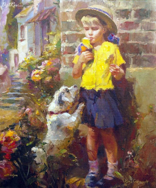 Taste of Ice Cream By Michael and Inessa Garmash - Giclee on Canvas