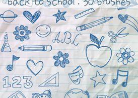 Doodles Pinceles Escolares