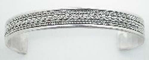 Amazing Cable Sterling Silver 925 Cuff Bracelet Sterling Silver. $84.32