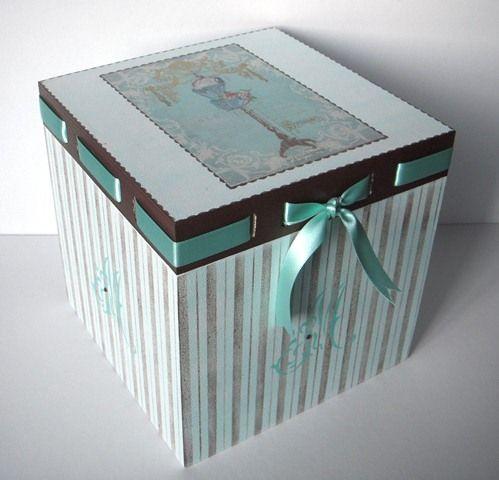 Caja de estilo vintage pintura decorativa y stencil - Cajas de madera decorativas ...