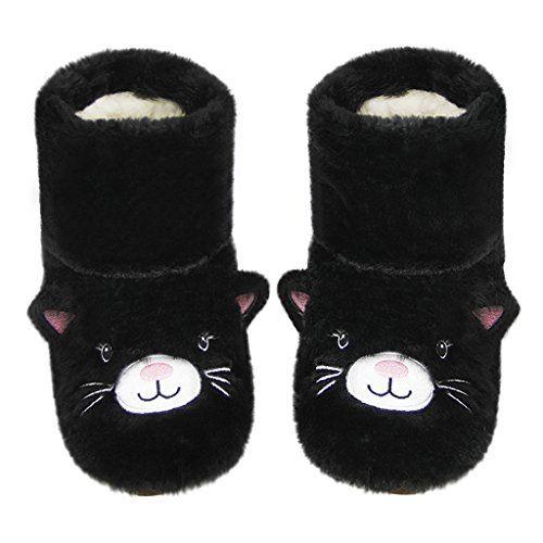 b96905cf4fb New Greenery-GRE Womens Girls Cartoon Warm Winter Slipper Socks Indoor  Floor Long Boots Soft Cozy Plush Fuzzy Non-Slip Bootie Shoes House Bedroom  Slip on ...