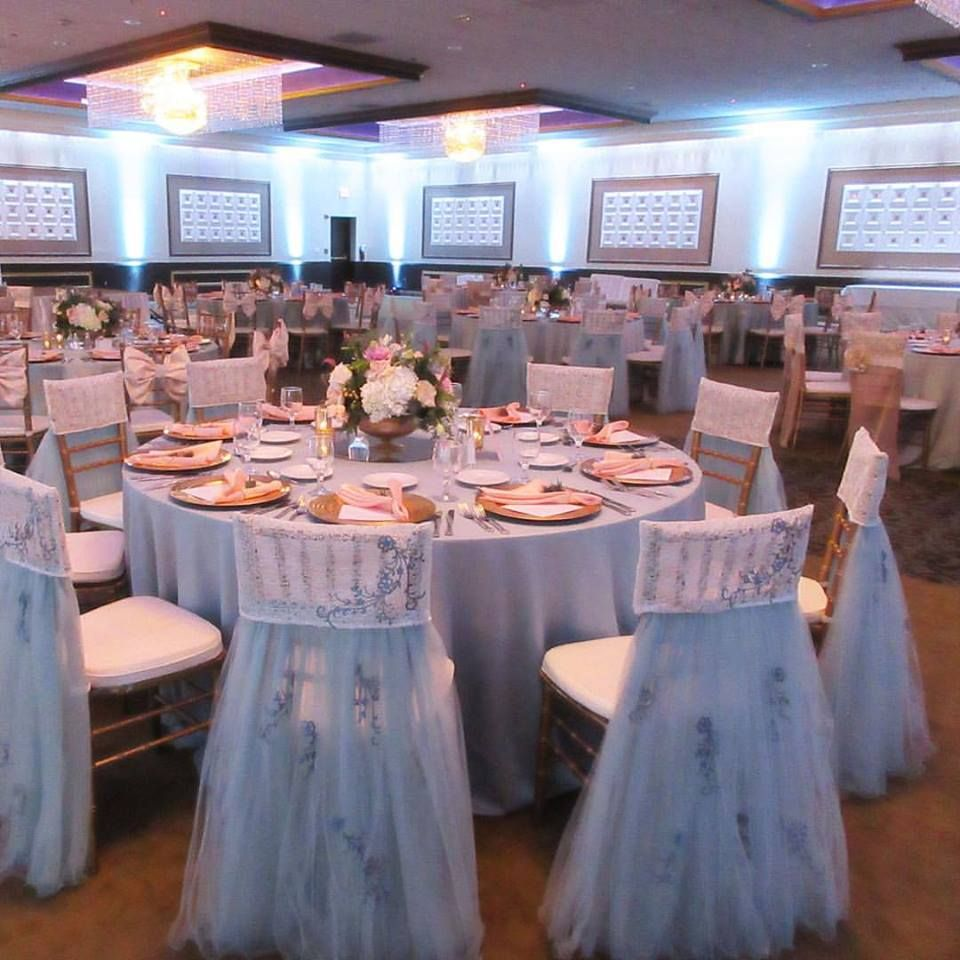 Pantone 2016 Serenity Light Blue Chair Cover Enhancements | Juliana Ice Blue