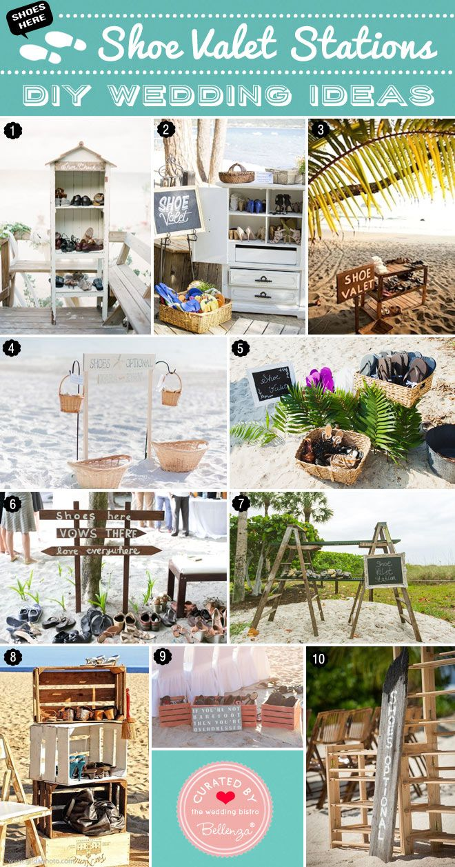 Creative Shoe Valet Ideas For Beach Weddings From Rustic To