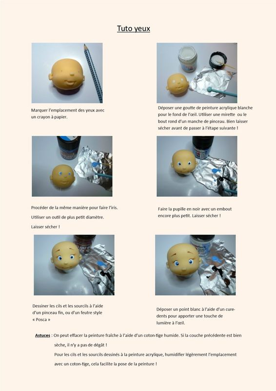 tuto yeux Modeling Pinterest Polymer clay, Polymers and Clay - pose papier a peindre