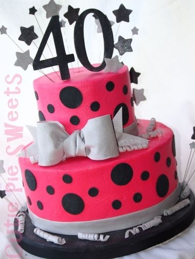 Super 40Th Birthday Cake With Images 40Th Birthday Cakes 40Th Funny Birthday Cards Online Aeocydamsfinfo