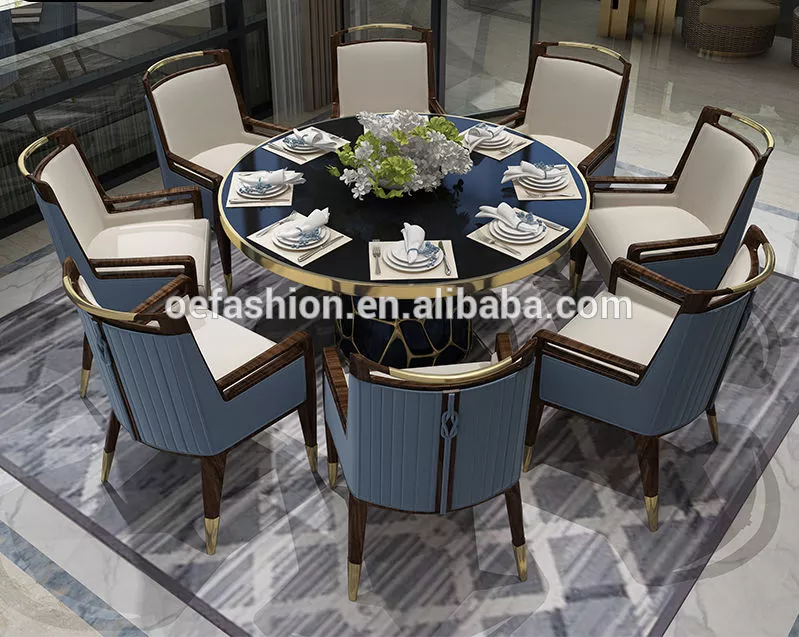 Oe Fashion Customized Home Hotel Furniture Marble Top Dining Round