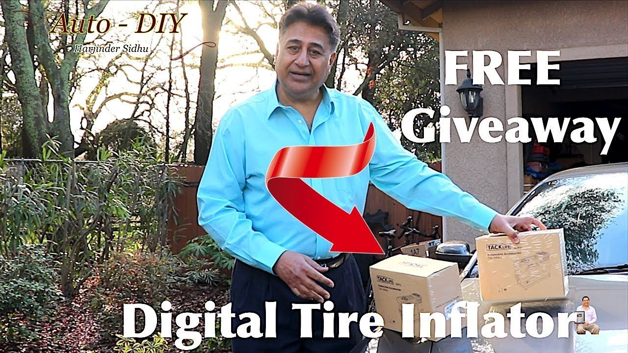 FREE Giveaway TACKLIFE Digital Tire Inflator Tire