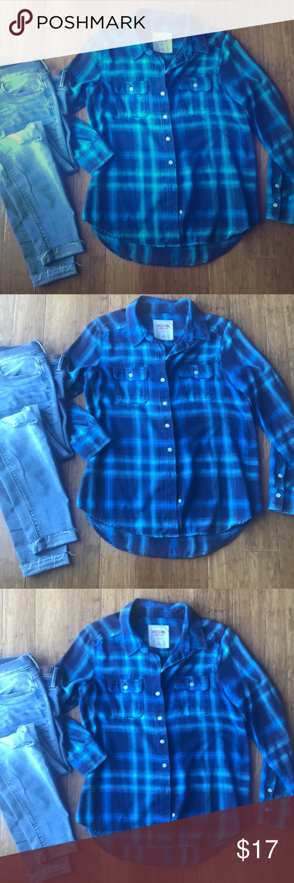 Flannel with shirt underneath  Mossimo Supply Co Plaid Flannel Shirt  Plaid flannel Flannel