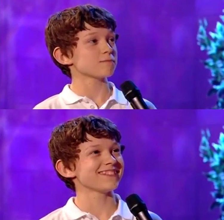Baby tom is beyond adorable #TomHolland