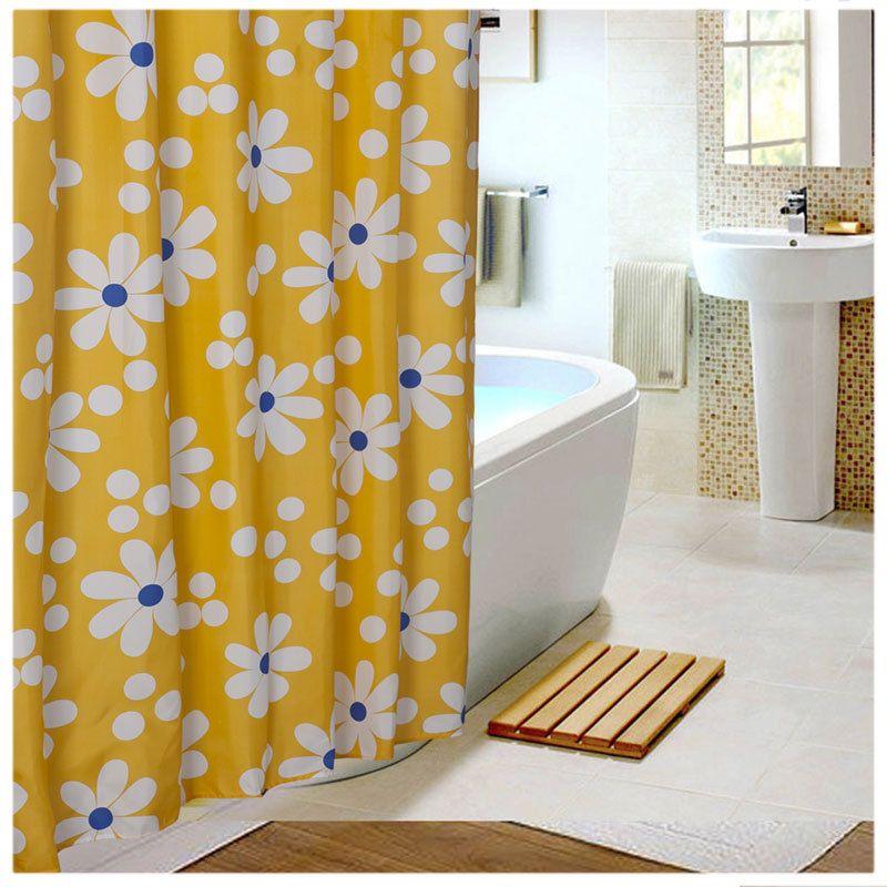 rideaux de douche de tournesol jaune salle de bains rideau impermable tissu - Rideau Salle De Bain Tissu