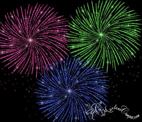 Fireworks Clip Art Glitter Fireworks Clip Art Glitter Clipart Clip Overlays Digital Clip Art Di
