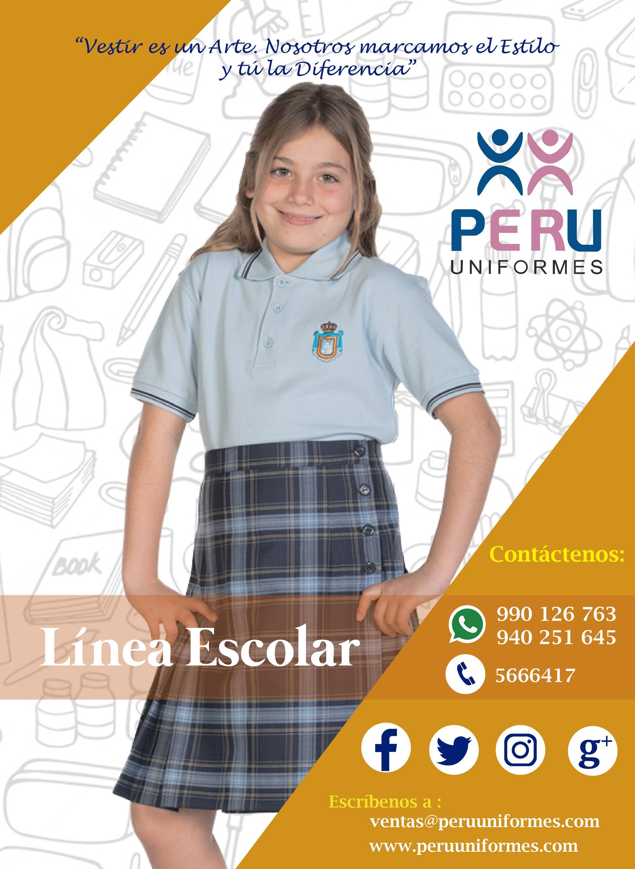 9a23ff779 PERU UNIFORMES Especialistas en el rubro de los uniformes escolares ...