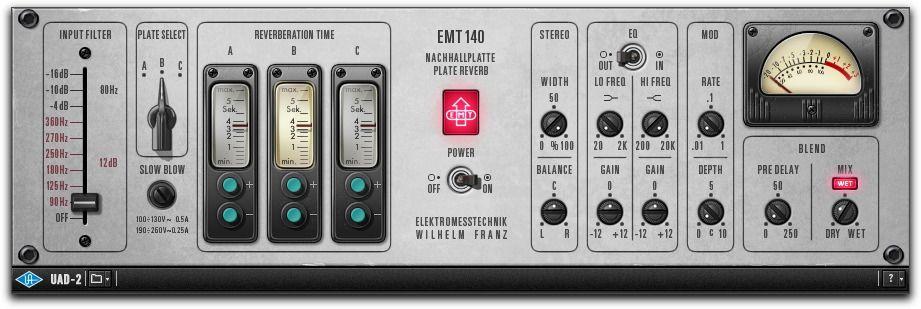UAD EMT 140 Classic plates, Music recording equipment, Audio