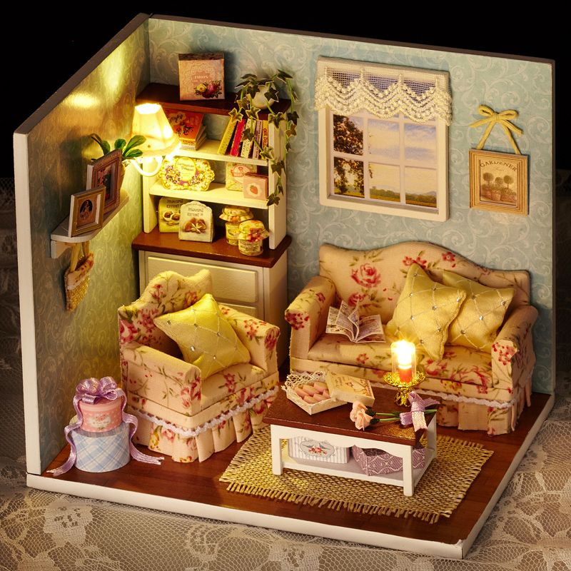 g nstige diy handmade wooden miniature m dchen puppe haus zimmer box spielzeug diy kids. Black Bedroom Furniture Sets. Home Design Ideas