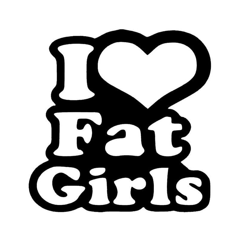 Wholesale 10pcs lot 20pcs lot i love fat girls vinyl decal car truck sticker bumper window heart chicks thick