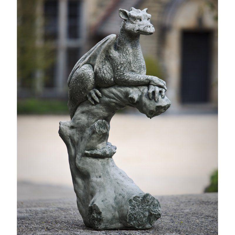 Campania International Yolande The Gargoyle Cast Stone Garden Statue