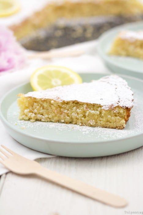 Rezept: Spanischer Mandelkuchen mit Zitrone - tulpentag #recipeformarshmallows