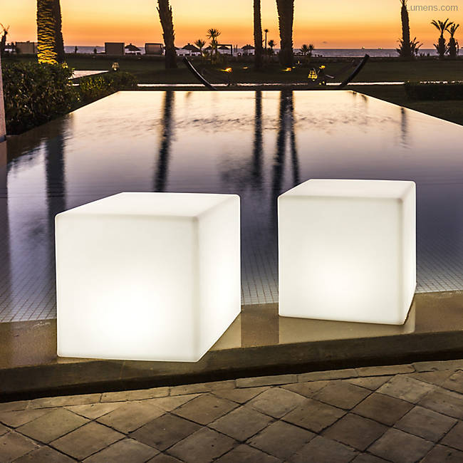 Big Cube Bluetooth Led Indoor Outdoor Lamp By Smart And Green At Lumens Com Outdoor Lamp Vintage Outdoor Lighting Indoor Outdoor